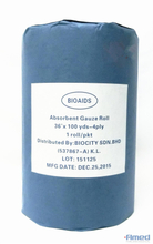 "ABSORBENT GAUZE ROLL 36 ""X100YDS (4 PLY, 19 X 15)"
